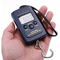 Весы для багажа и для дома с монитором на батарейках чёрные