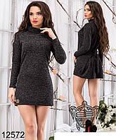 Модное короткое женское платье с завязками на спине