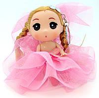 """Маленькая Брелок-Кукла """"Невеста"""" Эльза в розовом платье, 3 вида"""