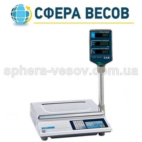Весы торговые CAS-AP-M (30 кг) , фото 2