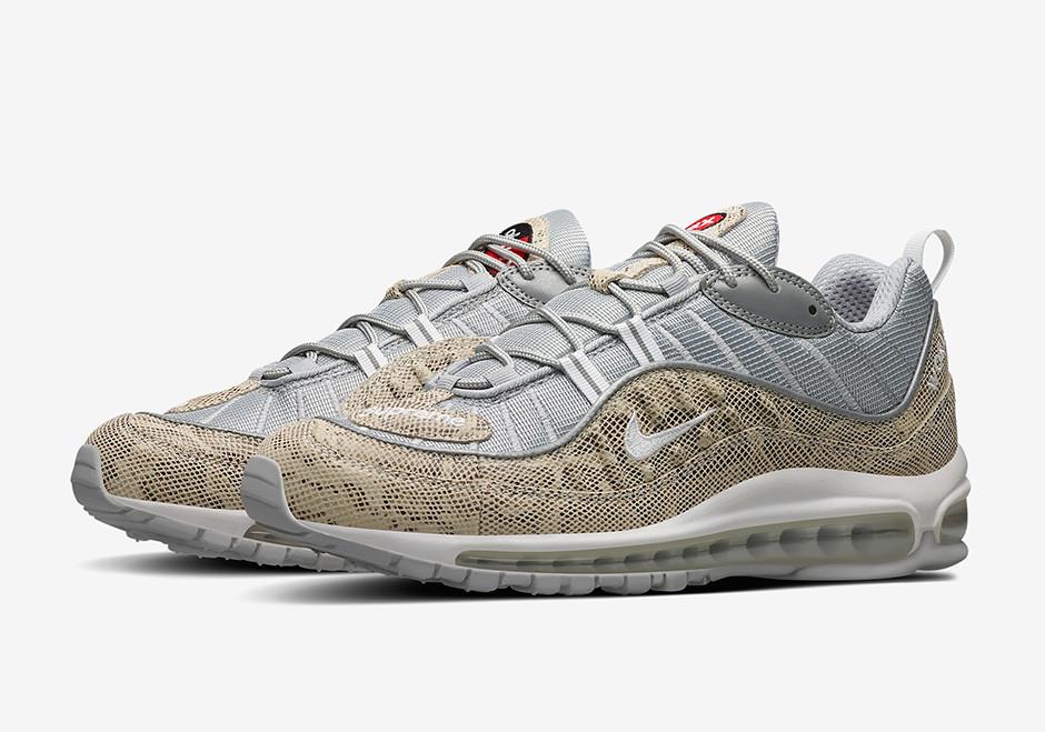 2be1601e Мужские кроссовки Nike x supreme air max 98 Snakeskin beige -  Интернет-магазин
