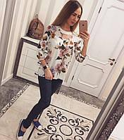 Атласная женская блузка