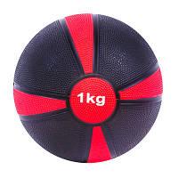 Мяч медицинский (медбол) 1 кг (диаметр: 19 см) SC-87273-1