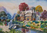 """Схема для вышивания """" Дом у реки """""""