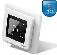 DEVIreg Touch White - терморегулятор с сенсорным дисплеем и интеллектуальным таймером (цвет белый)