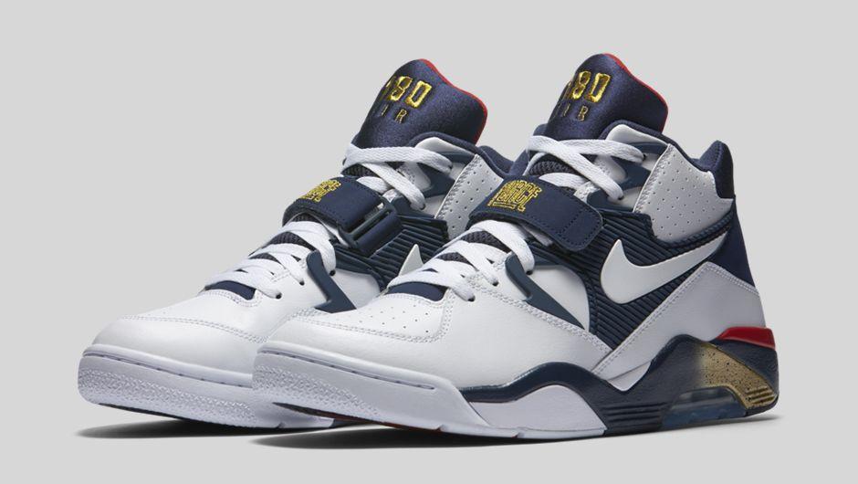 Мужские кроссовки Nike air force 180 blue-white, фото 1