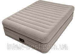 Intex 64446 надувная кровать Pillow Rest Mid-Rise Bed 152x203x51см