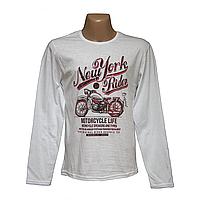 Мужские модные футболки с длинным рукавом оптом и в розницу 7903-3
