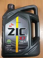 Моторное масло ZIC X7 Diesel 10W-40 6л. - производства Кореи, фото 1