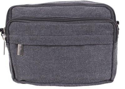 Мужская текстильная сумка на поясной ремень 301856 черная