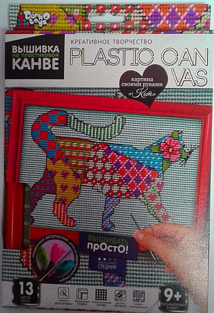 Вышивка крестиком Вышивка на пластиковой канве: Кошка PC-01-08 Danko-Toys Украина