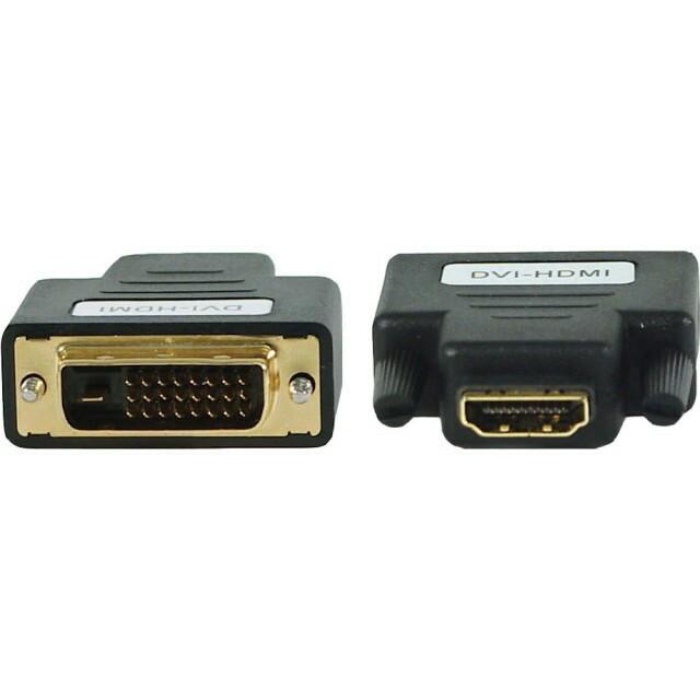 Переходник A-HDMI-DVI-2, HDMI мама /DVI папа, позолочені контакти