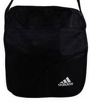 Мужская спортивная сумка с логотипом ADIDAS полиэстер 301903 черная