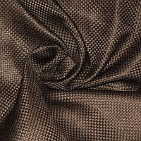 Шторный Лен Blackout блэкаут  Шахматка№ZG105-9/280LBL цвет коричневый