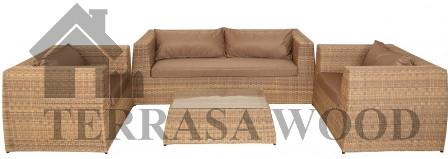 набор мебели для террасы из ротанга