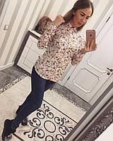 Модная женская рубашка котон