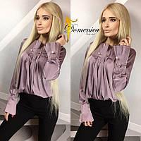Удлиненная женская блуза с пусетами у-t3113299