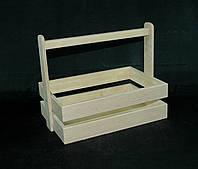 Заготовка для декорированя. Ящик, многоцелевой (цельная ручка) 30х20х10(см)