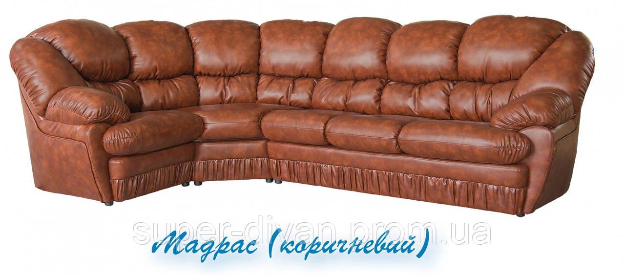 Угловой диван Магнат (Мадрас коричневый)