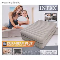 Intex 64446 надувная кровать Pillow Rest Mid-Rise Bed 152x203x51см, фото 3