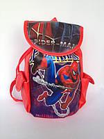 """Рюкзак  детский дошкольный """"Спайдермен"""" с боковыми карманчиками красного цвета"""