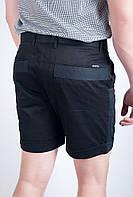 Шорты мужские выше колена с подворотами 1301 (Черный), фото 1