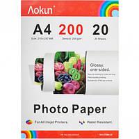 Фотобумага А4 пл.   200  г/м², 20 листов… (арт.FBA4200)