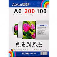 Фотобумага А6 пл.   200  г/м², 100 листо… (арт.FBA6200/100)