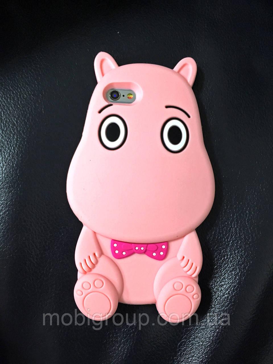 Силиконовый чехол Бегемотик iPhone 6S Plus/6 Plus, Бегемот