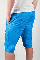 Шорты летние яркие до колена №166KF013 (Голубой), фото 1