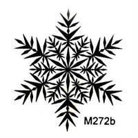 Силиконовый штамп Снежинка 2
