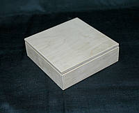 Заготовка для декупажа. Шкатулка с плоской крышкой 15х15х5(см)