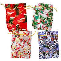 Мешочек для подарков и конфет 13×18 с ри… (арт.ТВ13*18)