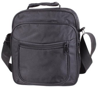 Мужская сумка через плечо полиэстер 302895 черная
