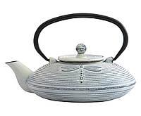 Чайник заварочный чугунный Бабочка, белый, 0,8 л 1107116