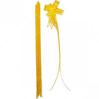 Бант из желтой органзы малый 1,8×36 см, … (арт.БОм1,8/36)