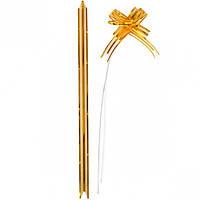Бант из золотой органзы малый 1,8×36 см,… (арт.БОм1,8/36)