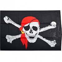 Флаг «Пират»  большой на завязках (арт.ФПб)