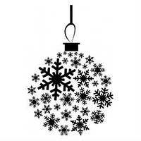 Силиконовый штамп Шар из снежинок