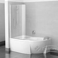 Ravak штора для ванны Ravak Cvsk1 140х85 безопасное стекло transparent, профиль white L (7QLM0100Y1)