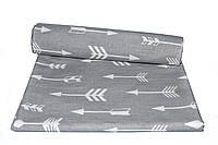 Пеленки ситец Стрелы на сером Премиум