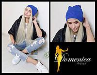 Яркая женская легкая шапка с надписью (много цветов) a-t3107282