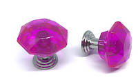 Ручка кристалл  розовый