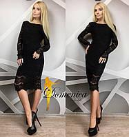 Женское длинное платье с кружевом в расцветках f-t31032630