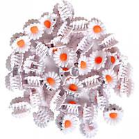 Заколка-крабик цветочек 100 штук 953 (арт.953)