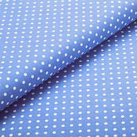 Хлопковая ткань Горохи 7 мм джинс