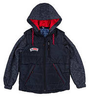 Весенняя куртка -жилетка для мальчиков ,размеры 36-44 ,опт и розница S476