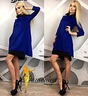 Двухцветное платье с воротником (много расцветок) g-t31032631
