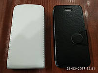 Кожаный чехол-книжка для iPhone 5, 5S, SE, черный