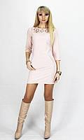 Платье с перфорацией Прима 4 цвета р 42,44,46